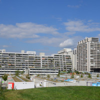 Blick aufs Olympiadorf